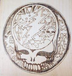 Grateful Dead Skull Grateful Dead Skull, Painting Inspiration, Decorative Plates, Wood, Crafts, Home Decor, Madeira, Homemade Home Decor, Woodwind Instrument