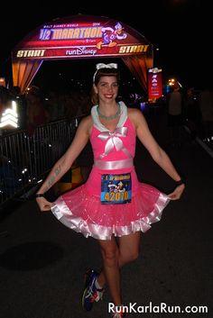 Disney World Half Marathon Cinderella Pink Dress running costume