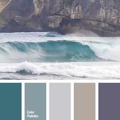 It is a very noble and calm palette, all the colours are of warm shades that adds simplicity to it. Blue shades balance a combination of both gray and turq