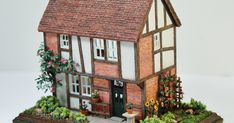 This  traditional English half timbered cottage is the result of my watching many Midsomer Murders episodes over the last few weeks.  The ser...