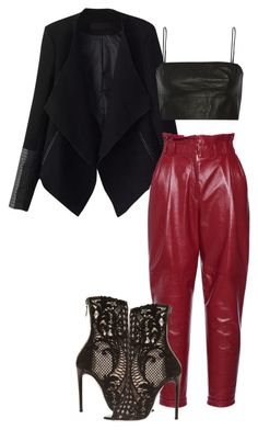 """""""Untitled #458"""" by jazz-mae on Polyvore featuring Relaxfeel, Philosophy di Lorenzo Serafini, Balmain and T By Alexander Wang"""