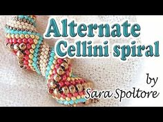Alternate Cellini spiral tutorial - How to make a zig zag Cellini spiral with Peyote stitch ~ Seed Bead Tutorials