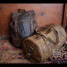FHT Voyager Leather Duffle Bag Travel Shoulder Luggage