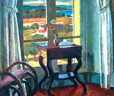 Vanessa Bell ''Interior with a Table'' (1921)