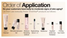 How do you know what order to do the Mary Kay skin care?  www.marykay.ca/jgiesbrecht1