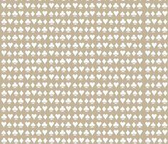 Lady Luck / Taupe Reversed fabric by megjoyclark on Spoonflower - custom fabric