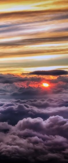 Sunrise Above The Storm Clouds