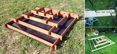 DIY Vertical Garden Pyramid Planter - 3 step slot together pyramid planter Diy Planters, Garden Planters, Herb Garden, Pallet Planters, Succulent Planters, Succulents Garden, Outdoor Projects, Garden Projects, Diy Projects