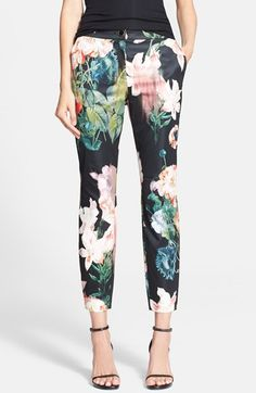 Ted Baker London 'Opulent Bloom' Trousers available at #Nordstrom