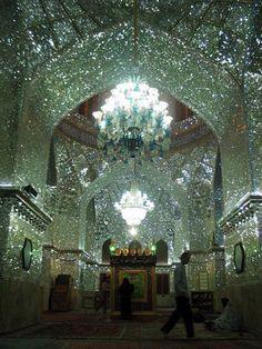 Shah Cheragh shrine - Shiraz, Iran. It looks like living inside a chandelier.