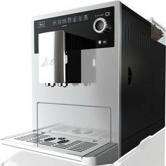 Melitta Caffeo CI Zilver Melitta Caffeo CI Zwart Een prachtige machine met unieke functies. Voor vier personen kunt u vier voorkeuren per type koffie instellen. En net als in een Italiaanse bar wordt bij een cappuccino eerst de koffie ingeschonken en daarna het melkschuim. De one touch 2 cups functie is geschikt voor elke koffie specialiteit van espresso tot latte macchiato. De CI heeft een all-in-one outlet voor koffie warme melk melkschuim en warm water. Volautomatisch 1500W Pompdruk: 15…