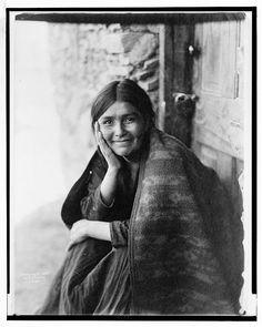 A Navaho Smile, 1904, Edward Curtis