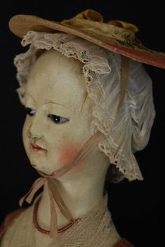 Reproduction English Wooden Queen Anne dolls hand carved 1700  by Kathy Patterson babes from the woods.