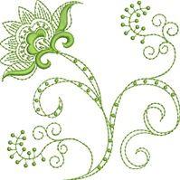 Folk Art Batik Embroidery 26  Susa Glenn Machine Embroidery Machine Embroidery