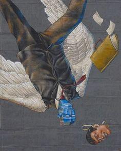 """Interesni Kazki , """"Icarus"""" in -Álvaro Obregón- Mexico City, Mexico, 2017, detail"""