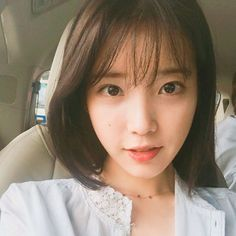 IU short hair with bangs Short Hair With Bangs, Short Hair Cuts, Short Hair Styles, Long Hair, Fringe Hairstyles, Hairstyles With Bangs, Iu Hairstyle, Korean Bangs, Korean Hairstyle Short Bangs