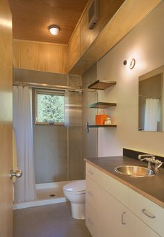 Contemporary 3/4 Bathroom - Come find more on Zillow Digs!