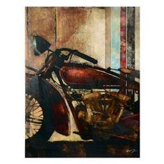 Vintage Motorcycle Canvas Art Print | Kirkland's