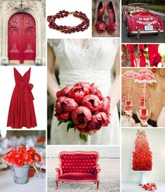 red wedding inspiration   Let us help plan all the details for your #Chicago wedding! www.PerfectDayWeddingPlanners.com