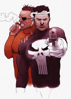 Punisher & Nick Fury パニッシャーとニック・フューリーです。カプコン版のゲームが好きでした