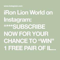"""iRon Lion World on Instagram: """"***SUBSCRIBE NOW FOR YOUR CHANCE TO """"WIN"""" 1 FREE PAIR OF ILW's """"LION TRAX"""" SANDALS made for comfort by Nike   (inbox) Name: Email address:…"""" Email Address, Lion, Names, Sandals, World, Free, Instagram, Leo, Shoes Sandals"""