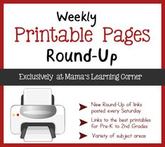 Weekly Printable Pages Round Up at Mama's Learning Corner: Dog's Colorful Day, Design Your Own Masks, and More
