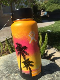 second Hydro Flask painting by me!