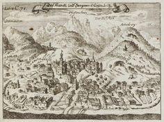 Georgica Curiosa 1682 by Wolf Helmhardt von Hohberg: birds-eye-view engraving of Eisenerz in - what is now - Austria (per comment below)