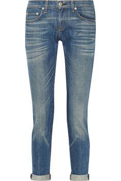 Rag & Bone Dre Slim Boyfriend jeans. / Very casual, springy.