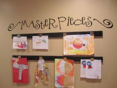 kids artwork display | Display kids art - love this... | Future Projects