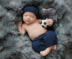 Newborn Photography. Newborn boy. Soccer