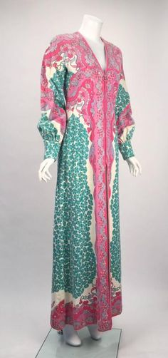 1960s Emilio Pucci Terry Cloth Multicolor Caftan 3