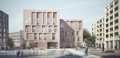 Aylesbury health centre by duggan morris Brick Architecture, Architecture Visualization, Architecture Graphics, Architecture Drawings, Residential Architecture, Contemporary Architecture, Architecture Details, Rendering Architecture, Architecture Diagrams