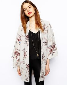 ASOS Kimono in Mixed Floral Print