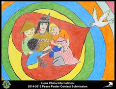 2014-15 Lions Clubs International Peace Poster Competition submission from Cumberland North Yarmouth Lions Club in Maine