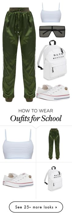 """Untitled #674"" by exposaye on Polyvore featuring Converse and Yves Saint Laurent"