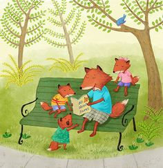 Father fox reading to kids on a spring day.jpg
