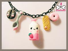 ♡ Happy milk kawaii friends necklace ♡ by ♡ LiLa ☆彡, via Flickr