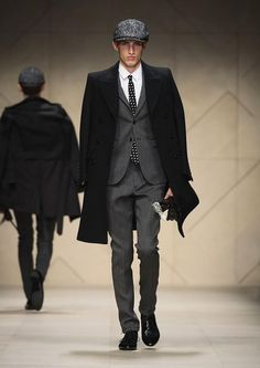 Burberry Prorsum AW 12 Menswear: A Skinny British Gentleman With Colour, Stud, and Accessory on Milan Fashion Week