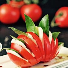 large antipasto platter | Tomato and Mozzarella Salad - Try These 7 Meals That the Hottest…