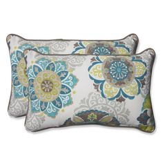 Shop for Pillow Perfect Outdoor Allodala Oasis Rectangular Throw Pillow (Set of 2). Free Shipping on orders over $45 at Overstock.com - Your Online Garden