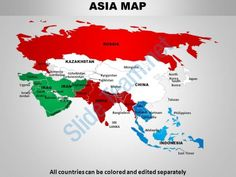 asia continents powerpoint maps Slide09