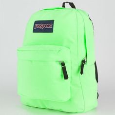 Jansport Superbreak Backpack Sulphuric Green One Size For Men 17560551101 from Tilly's. Saved to Things I want as gifts. Green Backpacks, Cute Backpacks, Girl Backpacks, School Backpacks, Stylish Backpacks, Leather Backpacks, Leather Bags, Mochila Jansport, Jansport Superbreak Backpack