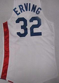 e45fa5822 New Julius Erving Nets Throwback Jersey 32 Hardwood Classics Size 48
