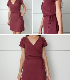 miscelánea diy: DIY | Vestido cruzado con lazo en la cintura (Wrap dress) Clothing Patterns, Sewing Patterns, Diy Vestido, Couture, Crafty Craft, Fashion Fabric, Needle And Thread, Sewing Clothes, Refashion