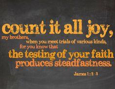 Count it all joy  James 1