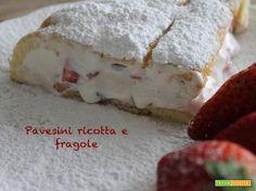 Pavesini ricotta e fragole: un dolcetto morbido e fresco!  #ricette #food #recipes
