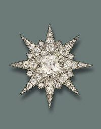 central old-cut diamond weighing 5.33 carats, by Cartier, ca 1930s
