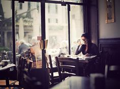 Sit at a coffee shop on Sunday mornings to read, relax and people watch. Essentially, become a local cafe regular.