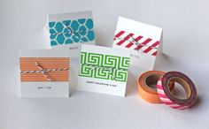 Mini DIY washi tape Valentine notes | How About Orange